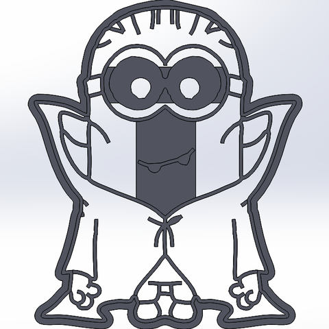 Download STL file Minion - vampire cookie cutter • Model to 3D print, dragoboarder