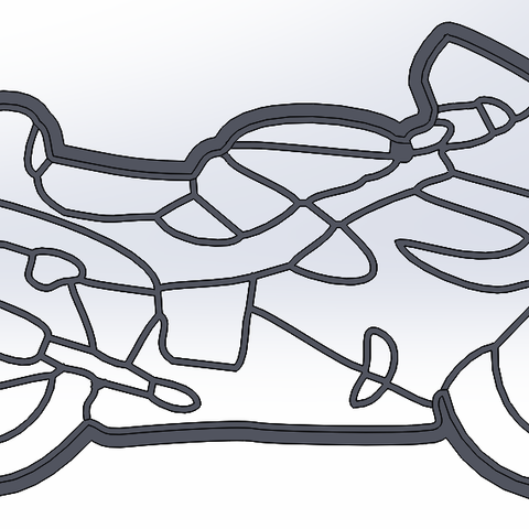 Download STL file Motorbike - cookie cutter • 3D printable object, dragoboarder