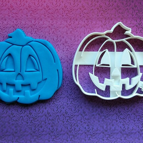Download STL file  Pumpkin cookie cutter - size 10cm • 3D printing model, dragoboarder