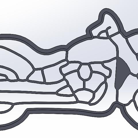 Download STL file Motorbike - chopper - cookie cutter • 3D print model, dragoboarder