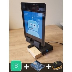 Free 3D printer files Cheap WiFi telepresence device for Ipad, Julien_DaCosta