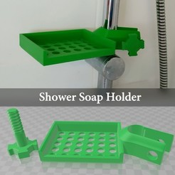 Download free STL file Shower soap holder, Julien_DaCosta