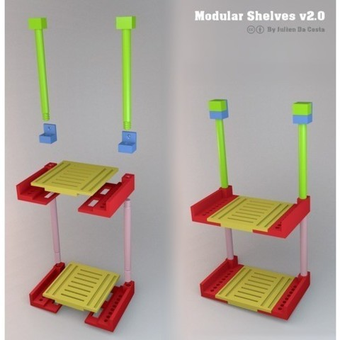 Fichier 3D gratuit Étagères modulaires, Julien_DaCosta