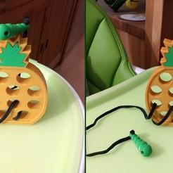 Télécharger fichier STL gratuit Laçage d'un jouet à l'ananas • Modèle pour imprimante 3D, Julien_DaCosta