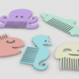 Download free 3D printer designs Fantasy combs ocean - Fantasy combs ocean, Julien_DaCosta