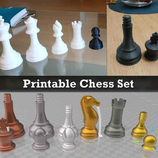 Télécharger modèle 3D gratuit Jeu d'échecs imprimable, Julien_DaCosta