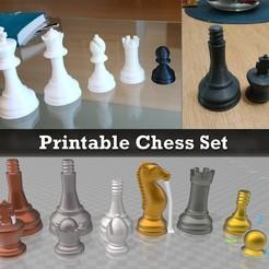 Télécharger fichier STL gratuit Jeu d'échecs imprimable • Modèle à imprimer en 3D, Julien_DaCosta