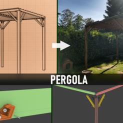 Télécharger fichier STL gratuit PERGOLA - bois et impression 3d • Objet pour imprimante 3D, Julien_DaCosta