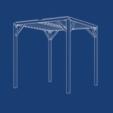 bluePrint1.png Download free STL file PERGOLA - wood and 3d printing • 3D printer model, Julien_DaCosta