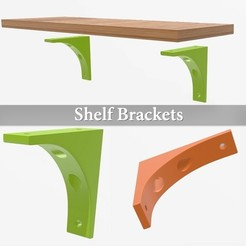 Download free 3D printer designs Easy shelf brackets, Julien_DaCosta
