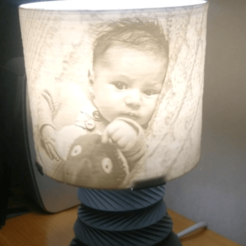 Download free STL files Lithophane rgb led lamp - model + tutorial, Julien_DaCosta
