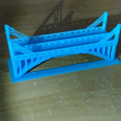 Free 3D printer designs simple bridge, squiqui