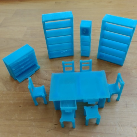 Download free STL file toys or decoration: roomset puppets play • 3D print template, squiqui