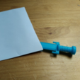 Download free 3D printer templates Mini Sword envelope opener, squiqui