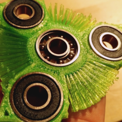 Free 3d printer designs hairy fidget spinner, squiqui