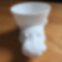 Free 3D model Funcup Cow drinking, squiqui