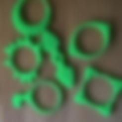 """Free 3d print files Pimoroni Flotilla wheel """"snowchain"""" toys, squiqui"""