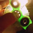 Download free 3D printer templates hairy fidget spinner, squiqui