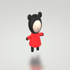 Download free 3D print files pucca, freegamer