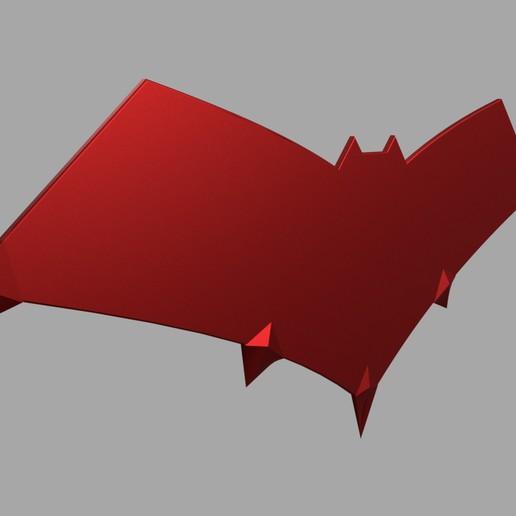 """etsy3.jpg Télécharger fichier STL logo de la cagoule rouge """"gotham knights • Modèle à imprimer en 3D, jediSam"""