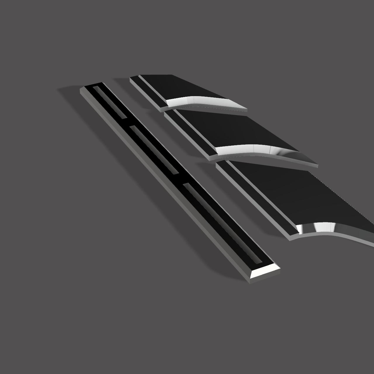 fins2.png Télécharger fichier STL NAGEOIRES DE BATMAN (LAMES) • Objet pour impression 3D, jediSam