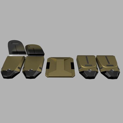cults3.jpg Télécharger fichier STL CEINTURE DE SERVICE DE LA VILLE DE BATMAN ARKHAM • Plan à imprimer en 3D, jediSam
