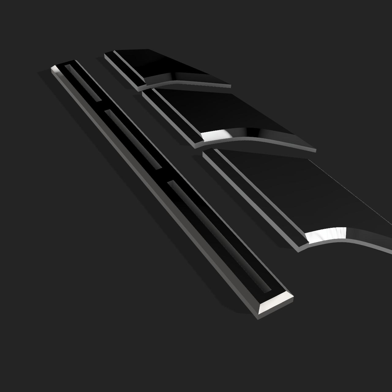 fins4.png Télécharger fichier STL NAGEOIRES DE BATMAN (LAMES) • Objet pour impression 3D, jediSam