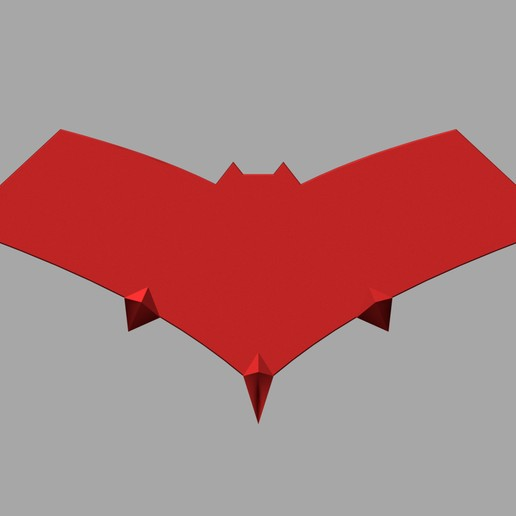 """etsy2.jpg Télécharger fichier STL logo de la cagoule rouge """"gotham knights • Modèle à imprimer en 3D, jediSam"""