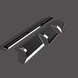 fins1.png Télécharger fichier STL NAGEOIRES DE BATMAN (LAMES) • Objet pour impression 3D, jediSam