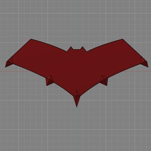 """etsy1.jpg Télécharger fichier STL logo de la cagoule rouge """"gotham knights • Modèle à imprimer en 3D, jediSam"""