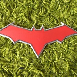 AVjlvvLMyrg.jpg Download STL file RED HOOD EMBLEM (LOGO)  • 3D print design, jediSam