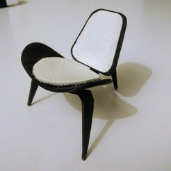 Download free STL Shell Chair, Ccamp104