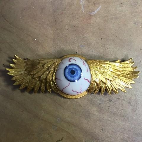Free STL winged eye, cloko
