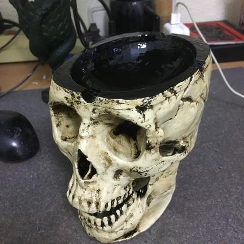 Free 3D printer designs SKULL ASHTRAY, cloko