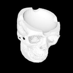 Descargar modelos 3D gratis cenicero calavera version puros, cloko