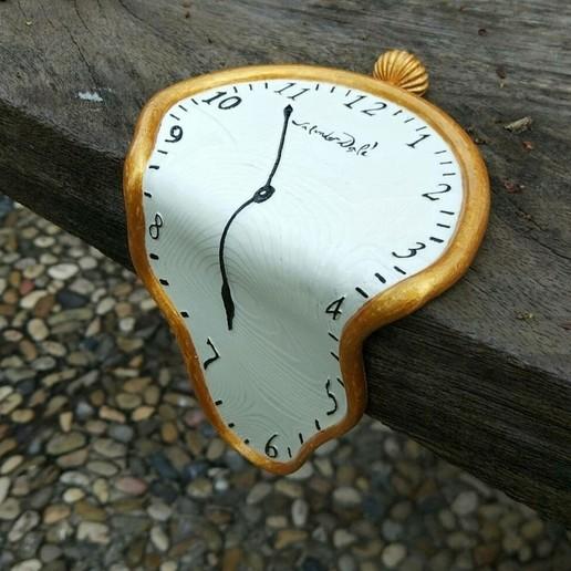 Télécharger STL Salvador Dalí horloge la persistance de la mémoire, PRINTTHINKS