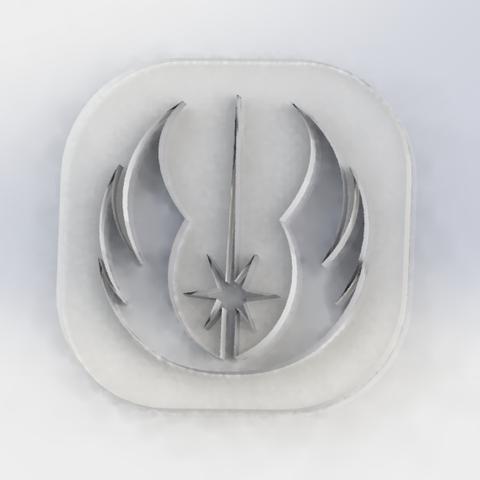 Hollow jedi token.png Télécharger fichier STL gratuit jeton creux Jedi • Modèle à imprimer en 3D, pacoag