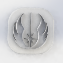 Free 3D printer file Hollow Jedi token, pacoag