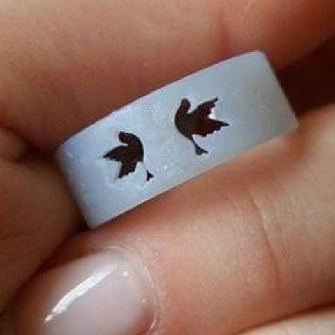 Descargar archivos STL gratis Love birds ring, murat4