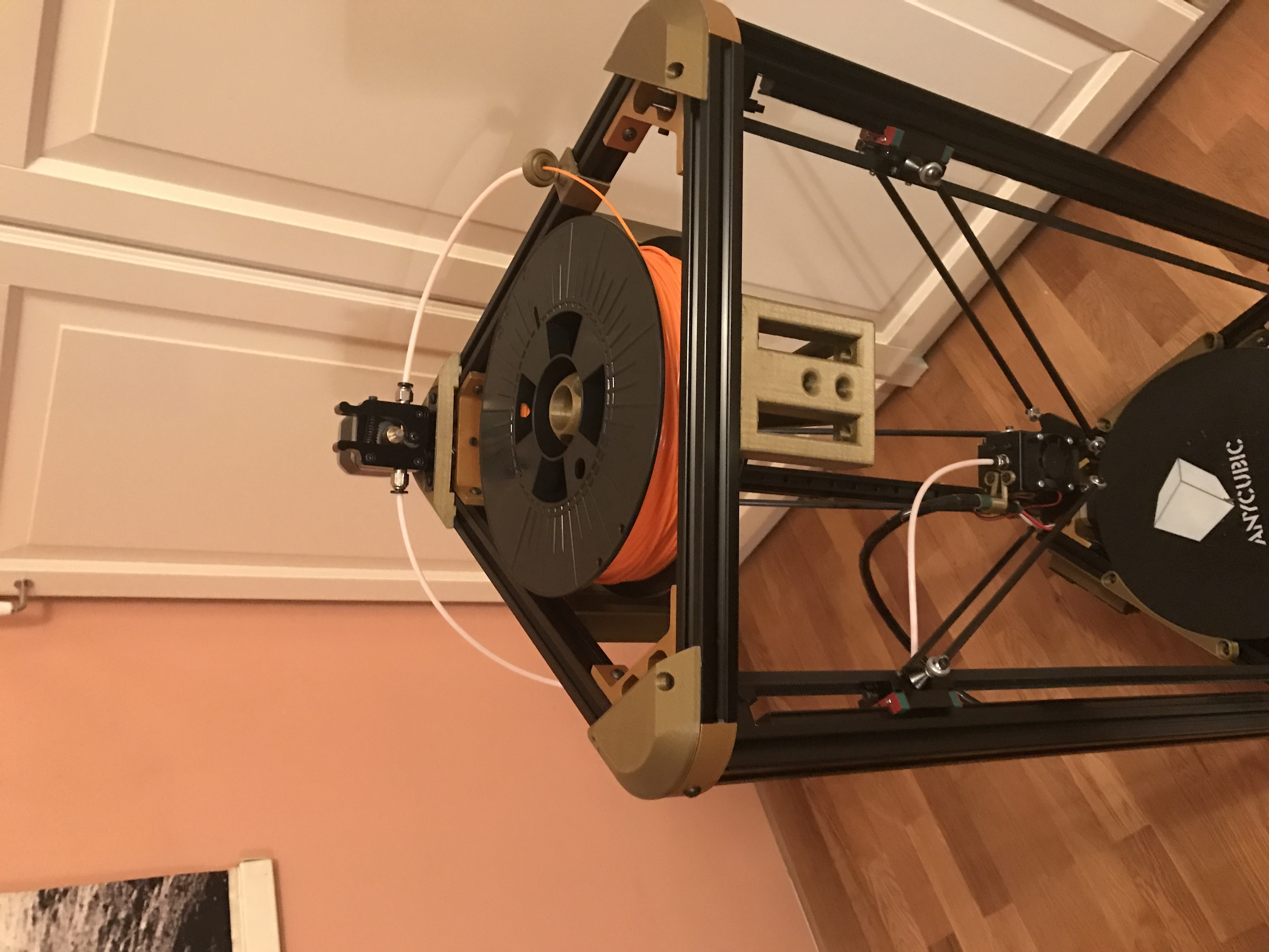 IMG_3274.JPG Download free STL file Anycubic Kossel Plus Top Internal Spool holder - Fixed • 3D print object, TsunamiSoul