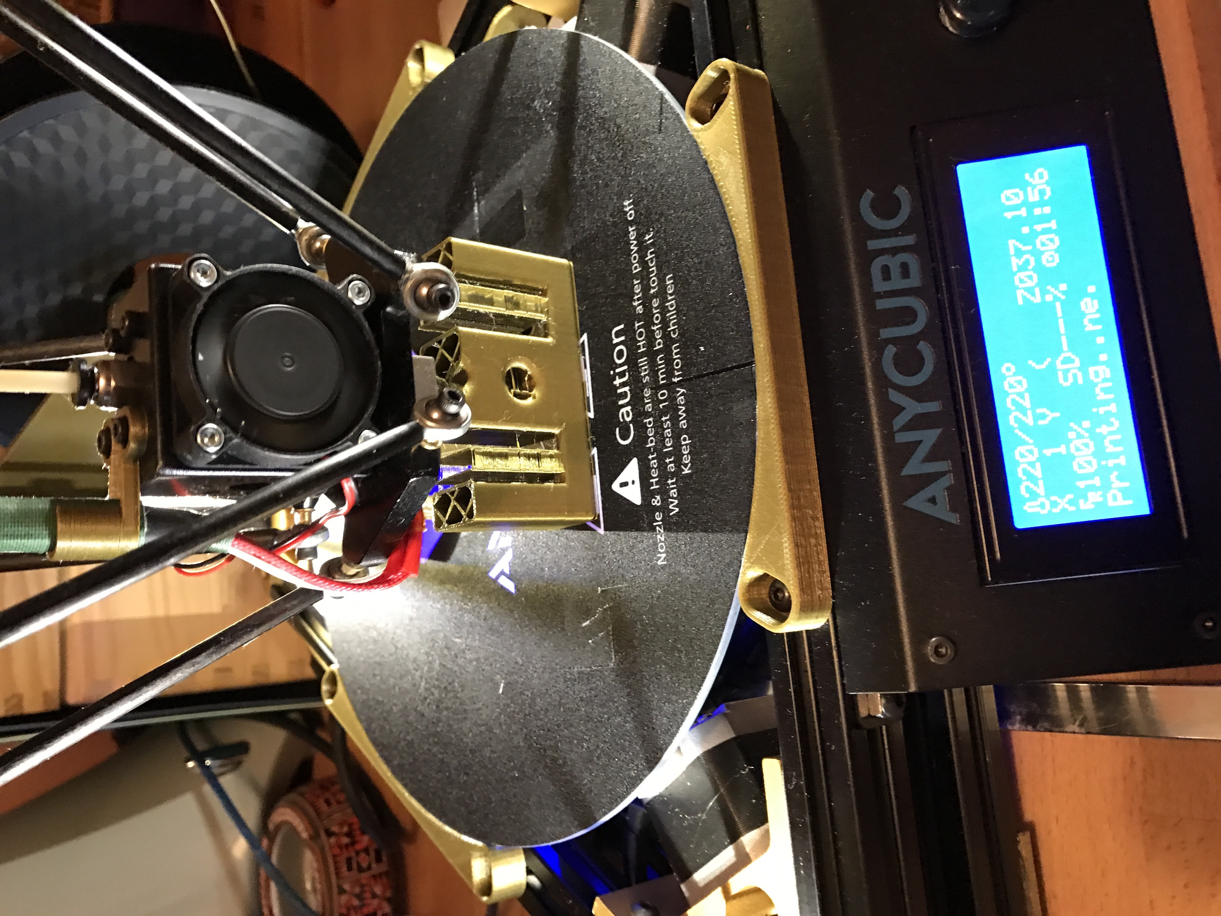 IMG_3209.JPG Download free STL file Anycubic Kossel Plus Top Internal Spool holder - Fixed • 3D print object, TsunamiSoul