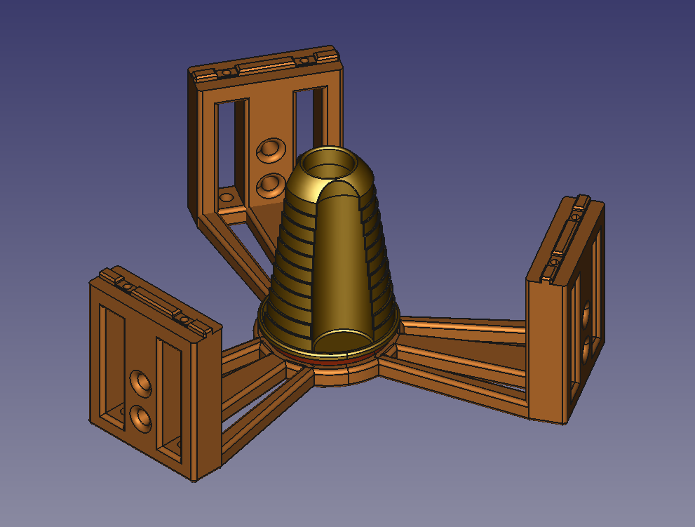 Model_Hard_disk_bearing.png Download free STL file Anycubic Kossel Plus Top Internal Spool holder - Fixed • 3D print object, TsunamiSoul