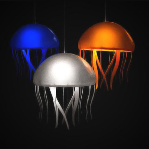 Archivos STL gratis Lámparas de medusas con tentáculos adjuntos, Pratrik