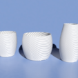 Télécharger modèle 3D Wavy organic bowl, cups, vase and flower pot., Pratrik