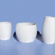 Descargar modelo 3D Ondulado tazón orgánico, tazas, jarrón y maceta., Pratrik
