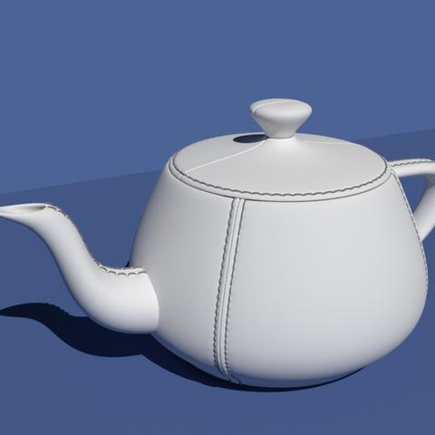 Download free STL file Leather tailored Utah Teapot. • 3D printer design, Pratrik
