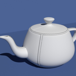 Download free 3D printing templates Leather tailored Utah Teapot., Pratrik