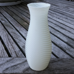 Download free STL file Wave vase • 3D printer design, Pratrik