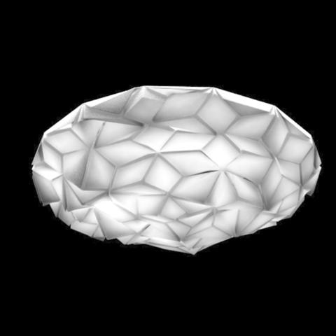 Download free STL file Structured ceiling lamp, tilted cubes • 3D printing model, Pratrik