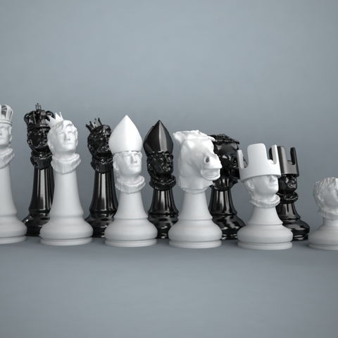 Download free 3D printer designs Chess set out of my own head, Pratrik